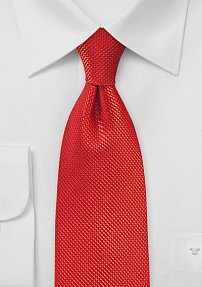 Persimmon Tie with Satin Finish