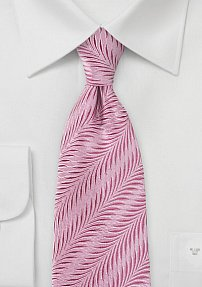 Brilliant Art Deco Designed Tie in Carnation Pink