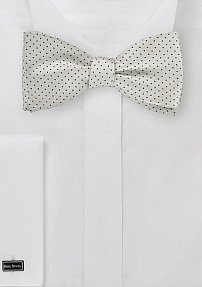 Pin Dot Bow Tie in Formal Silver