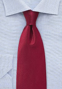Corduroy Silk Tie in Chili Pepper Red