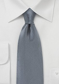 Corduroy Silk Tie in Smoke Gray