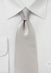 Corduroy Silk Tie in Platinum