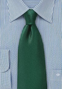 Corduroy Silk Tie in Hunter Green