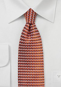 70s Retro Tie in Burnt Orange