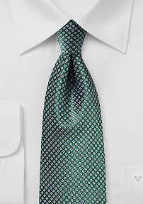 Hunter Green Tie with Lavender Micro Checks