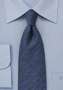 Textured Wool Winter Tie in Royal Blue