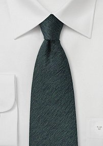 Wool Autumn Tie in Charcoal and Olive Green