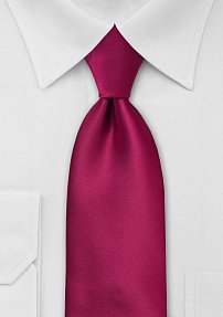 Mens Neck Tie in Ruby Red