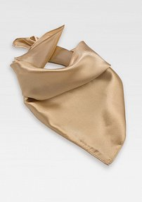 Solid Golden Champagne Scarf for Women