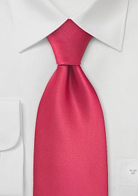 Solid Tie in Candy-Apple Color