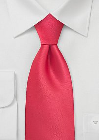 Bright Candy-Red Mens Tie