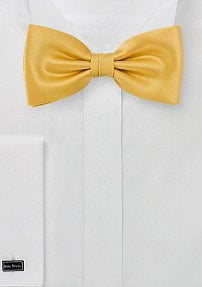 Solid Color Bow Tie in Tangerine Yellow