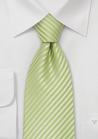 Striped Mens Tie in Lime-Green