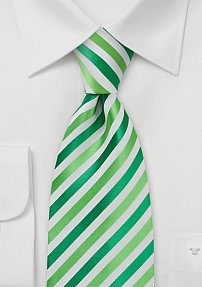 Modern Green and White Tie