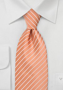 Mens Tie in Bright Apricot