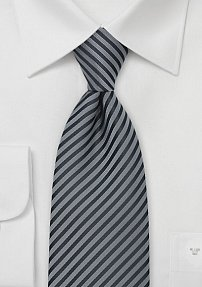 Elegant Gray and Charcoal Tie