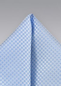Houndstooth Check Pocket Square in Light Blue