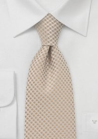 Patterned Tie in Golden Tans