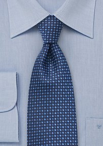 Modern Polka Dotted Tie in Blues