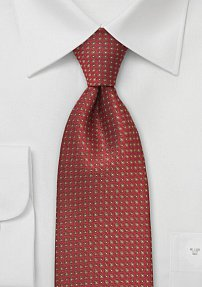Mahogany Brown Dotted Necktie