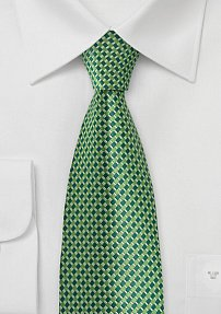 Patterned Tie in Festive Greens