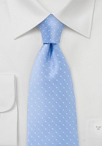 Polka Dot Tie in Coastal Blue