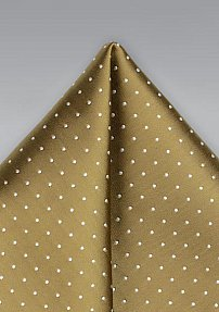 Polka Dot Pocket Square in Gold