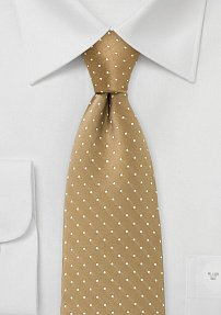 Polka Dot Tie in Gold