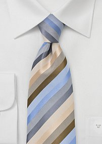 Striped Tie in Natural Earthtones