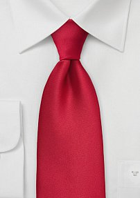 Bright Cherry Colored Power Extra Long Tie