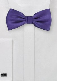 Solid Colored Bow Tie in Bright Purple
