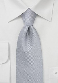 Solid Silver Textured Tie