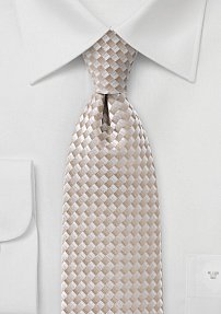 Mens Patterned Tie in Champagnes