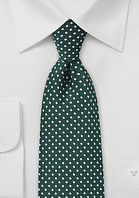 Diamond Texture Tie in Yacht Green