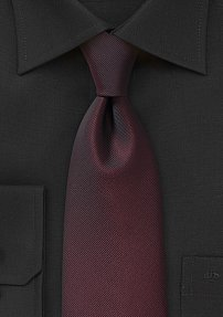 Posh Handmade Tie with in a Sharp Shade of Monochromatic Oxblood