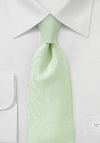Textured Tie in Pastel Green