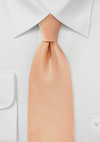 Mens's Metallic Orange Tie