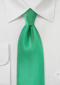 Designer Green Tie with Texture