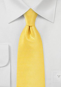 Solid Textured Tie in Canary