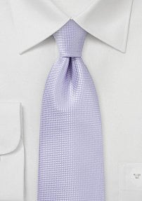 Solid Textured Tie in Pastel Lilac