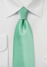 Monochromatic Green Necktie in Winter Mint