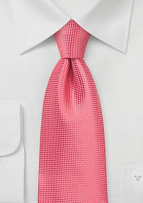 Solid XXL Length Tie in Coral Reef