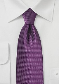 Solid Tie with Texture in Purple Passion