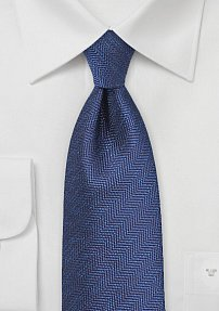 Herringbone Tie in Classic Blues
