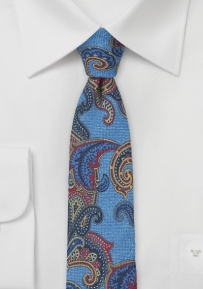 Trendy Italian Paisley Tie in Wool