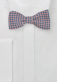 Designer Bow Tie with Vintage Print Design