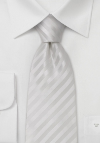 Formal Mens Necktie in Bright White