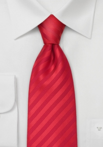 Bright Red Mens Tie in XL Length