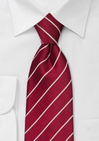 Cherry-Red Striped Necktie