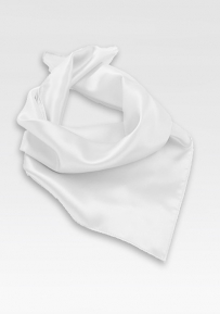 Solid White Neck Scarf